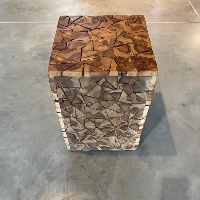 Hocker Kubus Mosaik